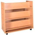 """Book Truck - 6 Shelves - 42""""W x 18""""D x 42-1/2""""H Amber Ash"""