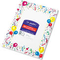 "Geographics® Design Paper 39219, 8-1/2"" x 11"", Party, 100/Pack"
