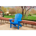 Frog Furnishings Recycled Plastic Seaside Adirondack Chair, Blue