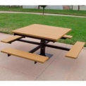Frog Furnishings Recycled Plastic 4 ft. T-Table, Cedar