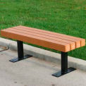 Trailside Bench, Recycled Plastic, 4 ft, Cedar