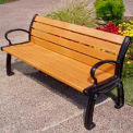 Heritage Bench, Recycled Plastic, 8 ft, Black Frame, Cedar