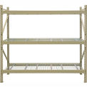 "JBX System 800 Boltless Wide-Span Shelving - 96""Wx24""Dx84""H - Galvanized Wire Decking - Starter Unit"