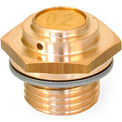 Brass Breather Valve - Low Profile - M10 x 1.0 Thread - J.W. Winco 883-M10X1-160-A-MS