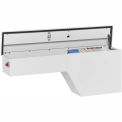 Weather Guard Pork Chop Truck Box, White Steel Driver Side Full Long 2.1 Cu. Ft. Capacity - 160-3-01