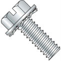 4-40X3/8  Slotted Hex Washer External Sems Machine Screw Fully Threaded Zinc Bake, Pkg of 10000