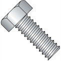 4-40X3/8  Unslotted Indented Hex Head Machine Screw Full Thrd 18 8 Stainless Steel, Pkg of 5000