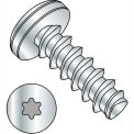 #8 x 3/8 6 Lobe Pan Plastite Alternative 48-2 Fully Threaded Zinc Bake And Wax - Pkg of 10000