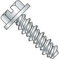 #8 x 3/4 #6HD Slotted Indented Hex Washer High Low Fully Threaded Zinc Bake - Pkg of 8000