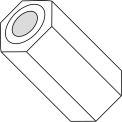 0,091x1/4 trois seizièmes entretoise hexagonale Nylon, paquet de 1000
