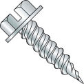 #10 x 1 Slt Hex Washer F/T Self Piercing Screw 5/16 Across Flats Zinc Needle Point - Pkg of 3000