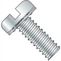 10-32X1/4  Slotted Pan Internal Sems Machine Screw Fully Threaded Zinc, Pkg of 5000