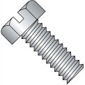 10-32X3/4  Slotted Indented Hex Head Machine Screw Full Thrd 18 8 Stainless Steel, Pkg of 2000