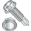 12-24 x 4 Unslot Ind Hexwasher dentelé autoforeuse vis filetage complet Zinc cuire, paquet de 500