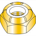 1/2-20  Thin Pattern Nylon Insert Hex Lock Nut Fine Thread Zinc Yellow, Pkg of 800