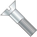 3/4-10X2 1/2  Slotted Flat Cap Screw Zinc, Pkg of 90
