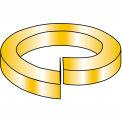 3/4  High Alloy Regular Split Lock Washer AISI 4037 Zinc Yellow, Pkg of 100
