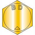 B3/4-16 x 2 MS90727, alliage, acier B1821 Fine vis à tête cylindrique ASTM A354BD - Zinc jaune - paquet de 10