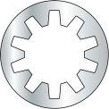 M8 Rondelle-frein métrique dents intérieures - Zinc - DIN 6797 J - Pkg de 3000