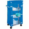 Lakeside® 332 Stainless Steel Linen Service Cart with Nylon Cover, 300 lbs. Capacity