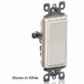 Leviton 5601-2E 15A, 120/277V, Decora Rocker Single-Pole AC Quiet Switch, Black
