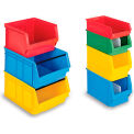 "Schaefer Extra-Large Stacking Bins LF532 - 12""W x 20""D x 8""H - Blue, Price Per Each - Pkg Qty 6"