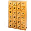Library Style Multimedia File Drawer Cabinet Oak, 456 CDs/192 DVDs