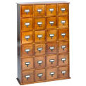 Library Style Multimedia File Drawer Cabinet Walnut, 456 CDs/192 DVDs