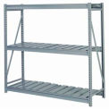 "Bulk Storage Rack Starter, 3 Tier, Ribbed Decking, 72""W x 30""D x 60""H Gray"