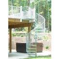 "Spiral Staircase Kit - The Iron Shop, Bay, CODE Steel/Dmd Plt, 5'0"", 12 Riser, Galvanized"