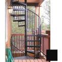 "The Iron Shop, Standard Steel/Dmd Plt, 4'0"", 13 Risers Only, Black"