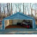 Gris 22' W x 24' L x 12' H pic Portable deux voiture Garage