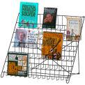 Marv-O-Lus Open Shelf Counter Literature, 6 Step Design, Black, 60