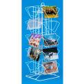 Marv-O-Lus Countertop Postcard Rack, 20 Pockets, White, PC-20