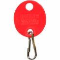 MMF-mousqueton porte-clés ovale 201800907 plaine, Pack de 20 balises, rouge
