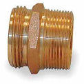 Fire Hose Double Male Nipple - 1 In. NPT X 1-1/2 In. NH - Brass