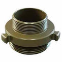 Fire Hose Double Male Adapter - 1-1/2 In. NH X 1-1/2 In. NPT - Aluminum