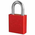 American Lock® No. A1265RED High Security Solid Aluminum Padlock 6 Pin Cylinders - Red - Pkg Qty 24