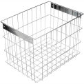 "Marlin Steel Basket 00344003-31 - Electropolished Stainless Steel - 16-1/2""L x 11-3/4""W x 12-1/4""H"