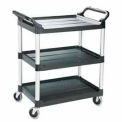 Rubbermaid® 3424-88 Three-Shelf Black Utility Cart