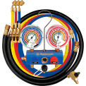 "Mastercool® 59861 3 Way 3 1/8"" Gauges, 60"" Hoses 3-1/4"" R, B, Y & 1-3/8"" Black"
