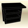 """MasonWays™ Wall Desk 14-1/2""""W x 9""""D x 15-1/2""""H"""