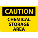 "NMC C126RB OSHA Sign, Caution Chemical Storage Area, 10"" X 14"", Yellow/Black"