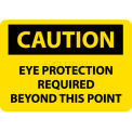 "NMC C152RB OSHA Sign, Caution Eye Protection Required Beyond This Point, 10"" X 14"", Yellow/Black"