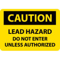 "NMC C173RB OSHA Sign, Caution Lead Hazard Do Not Enter Unless Authorized, 10"" X 14"", Yellow/Black"