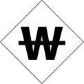 """NMC DCL102 NFPA Label Symbol, Use No Water, 2-1/2"""" X 2-1/2"""", White/Black, 5/Pk"""