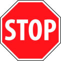 """NMC TM34R Traffic Sign, Stop Sign, 18"""" X 18"""", White/Red"""
