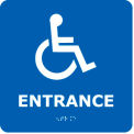 Graphic Braille Sign - Entrance - Blue