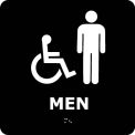 Graphic Braille Sign - Men - Black