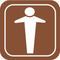 Architectural Sign - Men Symbol